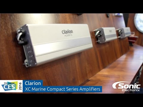 Clarion XC Series Compact Marine Amplifiers | CES 2016
