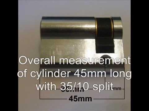 How To Measure A Single / Half Euro Cylinder Barrel Lock