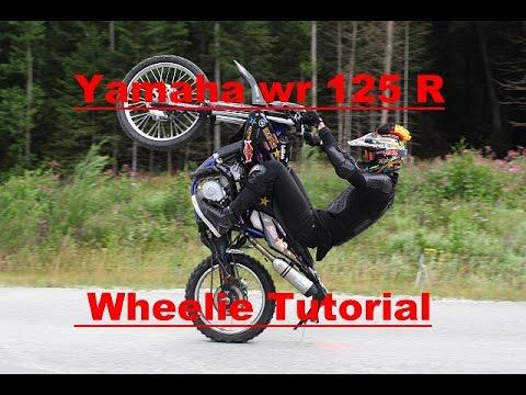 Yamaha WR 125 R Wheelie Tutorial + Kennzeichenschleifer | German | Snocco