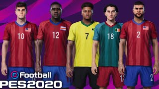 PES 2020 TODAS AS FACES REAIS SELEÇÕES AMÉRICA CENTRAL E DO NORTE!
