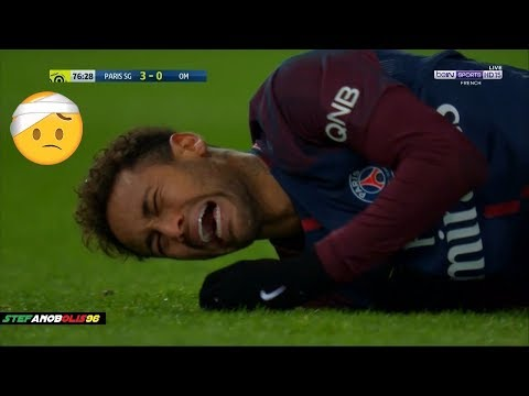 Neymar Jr ⚽ Injury + Marseille Shameful Defenders Hunting on Neymar ⚽ 2018 | HD  1080i #Neymar
