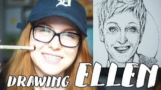 Drawing Ellen DeGeneres Using Pointillism // Rad Art with Beth Be Rad | SNARLED