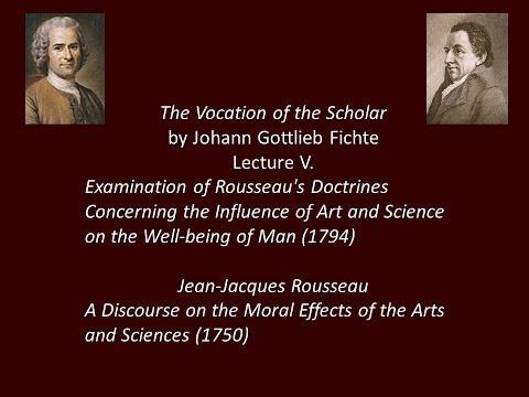 Johann Gottlieb Fichte (1762-1814) takes on Rousseau 1794