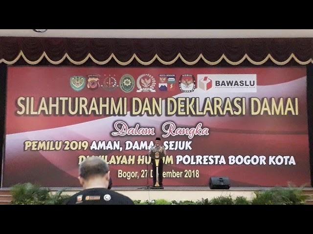 Kapolda Jawa Barat Hadiiri Deklarasi Bersama di Kota Bogor