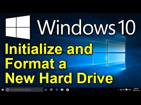✔️ Windows 10 - How To Initialize And Format A New Hard Drive With Windows Disk Manager