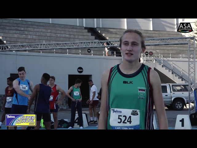 Final 2 Girls u19 100m  - 2019 Twizza SuperSchoolSeries Greenpoint