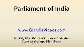 General Knowledge on Indian Parliament
