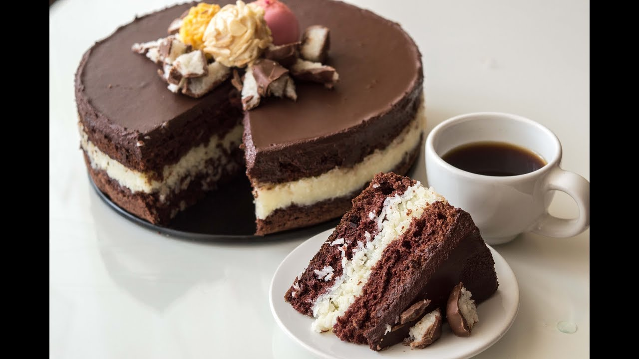 Bounty Cake Coconut Cake Recipe Youtube