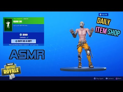 ASMR | Fortnite NEW Hang On Emote And Taffy Wrap! Item Shop Update 🎮🎧Relaxing Whispering😴💤