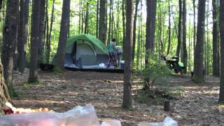 Drunk jerks try to start a fight at a camp site