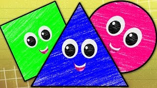 Shapes Song | Learn Shapes With Crayons | Nursery Rhymes For Kids | Baby Songs