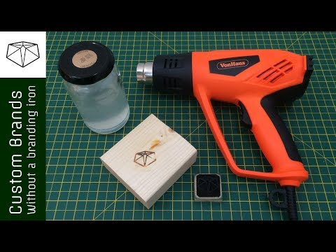 Make your own custom wood burning brands that you can use without a branding iron //howto