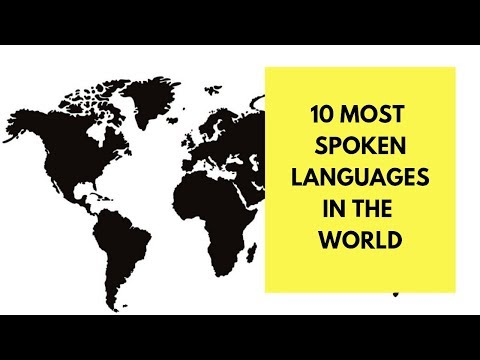 10 Most Spoken languages in the world (2018)