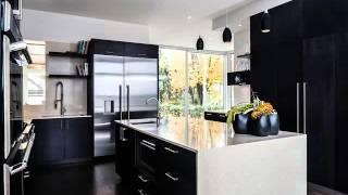 desain dapur nuansa hitam putih Desain Interior dapur Minimalis Sederhana