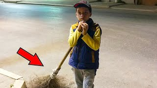 9 летний мальчик помогал маме подметать улицы и этим поступком привлек в свою жизнь чудо!