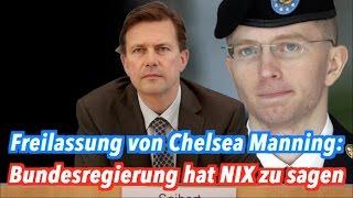Die Bundesregierung zur Freilassung von Chelsea Manning