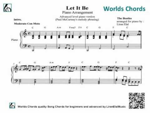 Let It Be Piano Sheet Music Youtube