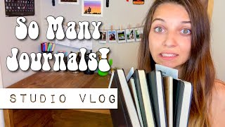 STUDIO VLOG | BUSY WEEK!! Custom Bullet Journals, Packaging Etsy Orders and more!!