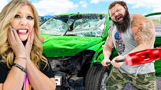5 Ways to Desтroy a Car with the World's Strongest Man!