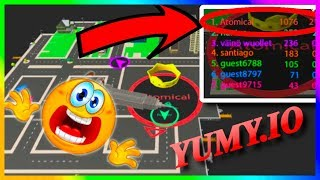 Yumy.io HUGE MAP CONTROL Gameplay! ( .io Game Like Hole.io Agma.io ) Yumy IO