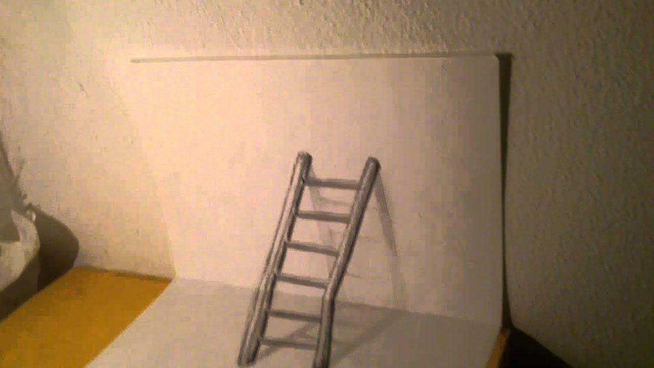 Preferenza Drawing 3D scale/ disegno 3D scala matita - YouTube ZD47