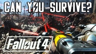 SURVIVING EPIC FALLOUT 4 BATTLES!? (#1) 120 Deathclaws & Brotherhood of Steel!
