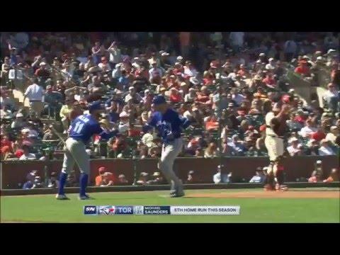Michael Saunders Home Run vs Giants (5) - May 11 2016