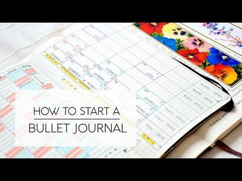 Tips on How to Start a Bullet Journal