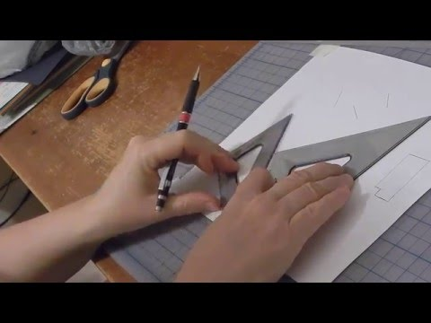 Manual Drafting: Equally Spaced, Parallel Angled Lines
