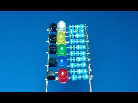 LEDs Charser Using Transistors Without PCB , Electronic Project