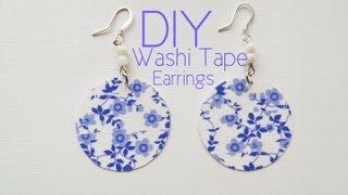 DIY Washi Tape Earrings