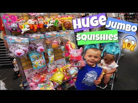 HUGE JUMBO SQUISHIES AT BOOKS A MILLION! THE BABIES GO SQUISHY HUNTING!
