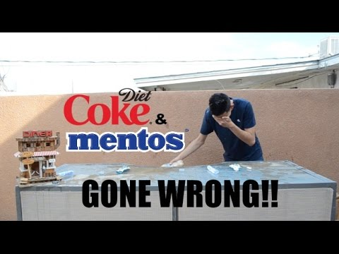 DIET COKE AND MENTOS CHALLENGE (GONE WRONG!!!)