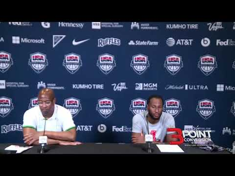 Nigeria Basketball Team's post-game presser after a 108-69 loss to Australia