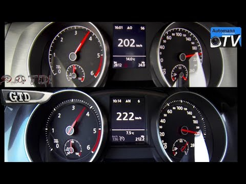 2014 golf 7 gtd vs golf 7 2 0 tdi 0 224 km h acceleration 1080p rh youtube com golf 1.6 tdi dsg vs manual 2015 golf tdi manual vs dsg