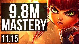 ANNIE vs AKSHAN (MID) | 9.8M mastery, 1300+ games, 12/3/9 | NA Grandmaster | v11.15