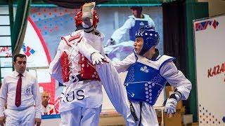 Kaloyan Binev BUL Vs Bolat  Zutdinov RUS. European Taekwondo Championships Kazan 2018