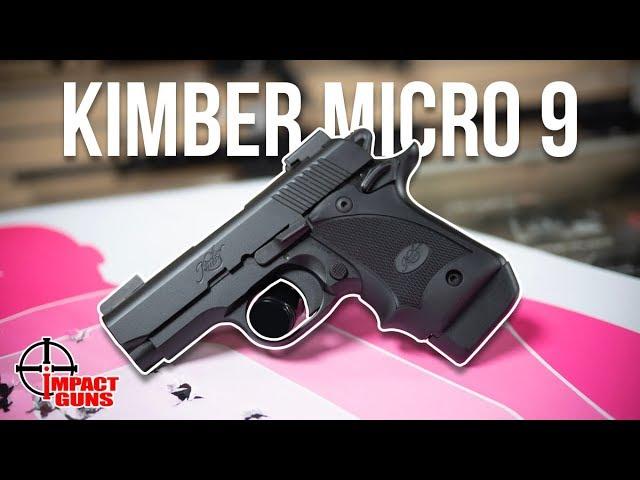 Kimber Micro 9 Stainless, Rosewood Laser Grip, 7 rd Magazine