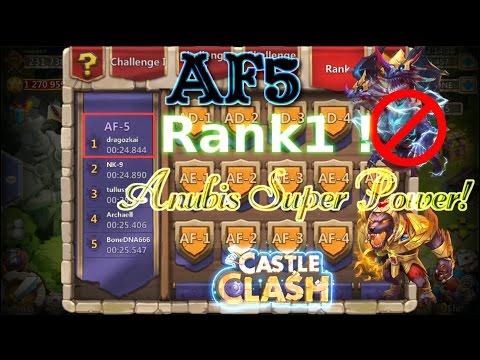 Castle Clash Anubis AF Action_ AF5 Rank 1 ??_ No Demogorgon