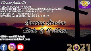 "Sunday School - ""Nehemiah: The Captive Cupbearer Rebuilds a Nation"" - 4818/2021"