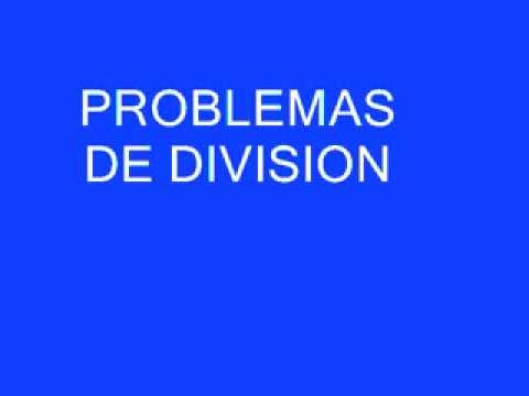 PROBLEMAS DE DIVISION - YouTube