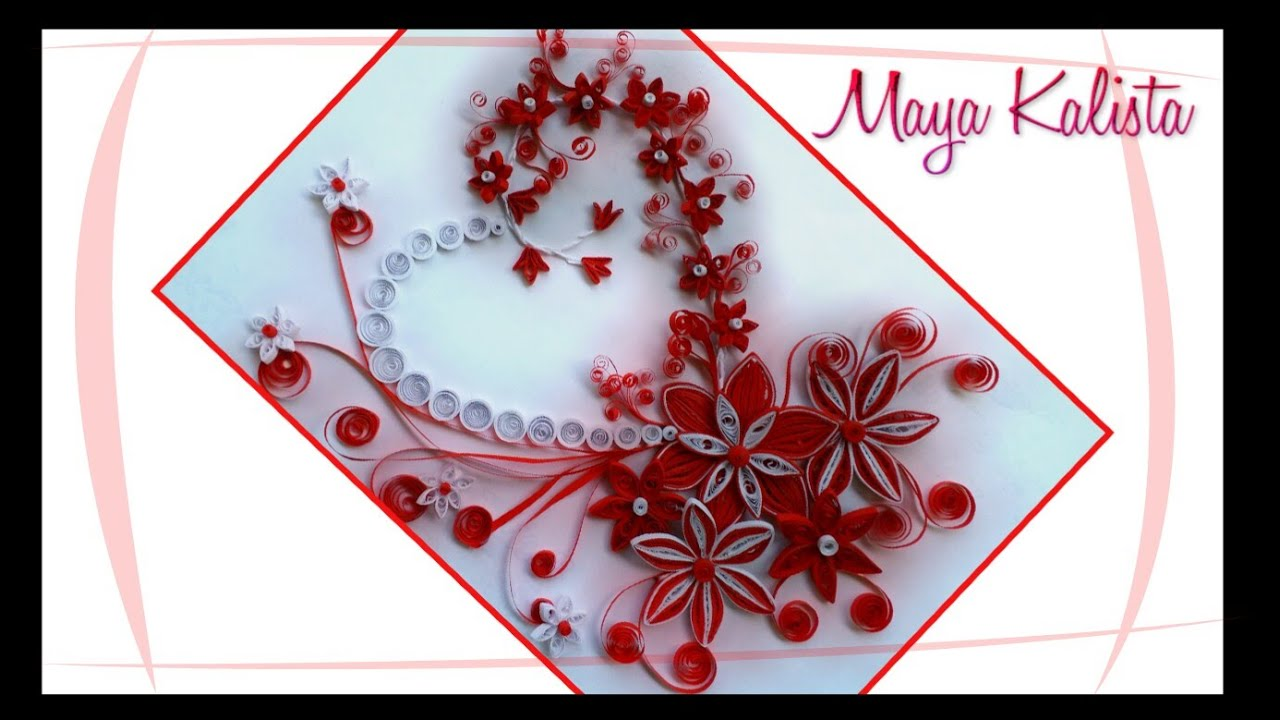 How to make DIY Paper Quilling DESIGNS - Quilling Art / Heart ...