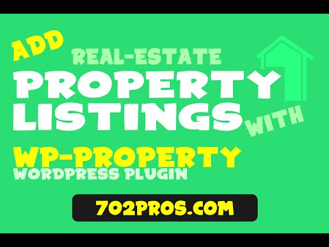 Add Real Estate Property Listings to WordPress Website with WP Property Plugin