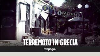 Terremoto in Grecia, mini tsunami e un incendio dopo la scossa di magnitudo 6.7