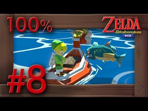 Zelda The Wind Waker HD 100% Walkthrough Part 8 | Greatfish Isle & Great Sea Collecting Wii U