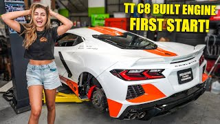 Twin Turbo C8 Corvette Comes BACK TO LIFE! First Start on New Built Engine!