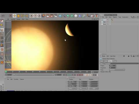 Making the Sun (and controlling it using Xpresso) in Cinema 4D