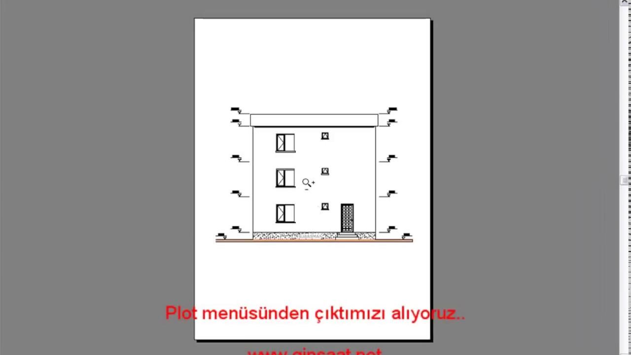 Autocad pdf formatinda ikti almak youtube for Pdf a cad