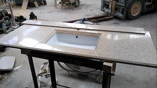 Encimera de Silestone con la pila por debajo. How to make a countertop with the pile underneath
