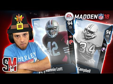 LEGEND FANTASY BUNDLE! Pulling for Ronnie Lott & Earl Campbell - Madden NFL 18